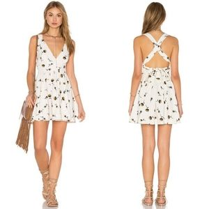 Free People Ivory White Floral Minis For You Dress